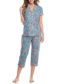 Kim Rogers Short Sleeve Paisley Pajama Set