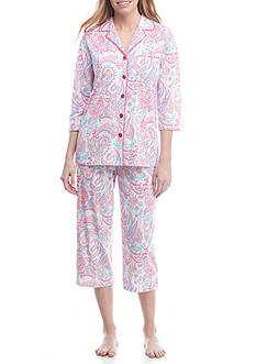 Kim Rogers® Two-Piece Multi Paisley Pajama Set
