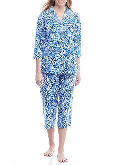 Kim Rogers® Two-Piece Paisley Pajama Set