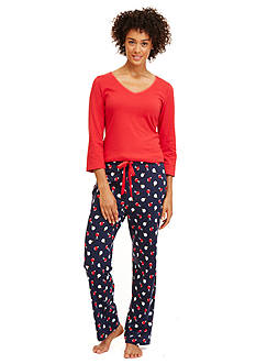 Nautica Ornament Print Pajama Set