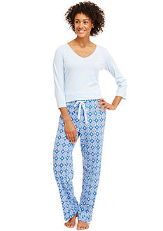 Nautica Folded 2-Piece Geo Knit Pajama Set