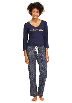 Nautica Folded 2-Piece Knit Pajama Set