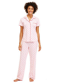 Nautica Pink Arrow Notch Pajama Set