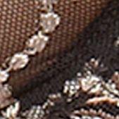 Women: Designer Sale: Black/Taupe Lunaire Sevilla Embroidered Demi Bra - 14011