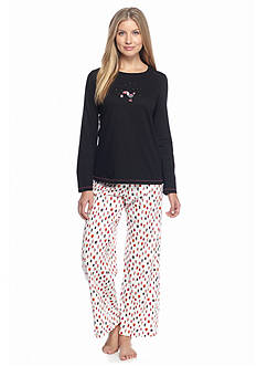 HUE® Folded 2-Piece Knit Toucan Holiday Pajama Set