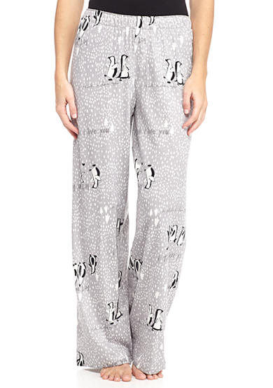 HUE® Words with Penguins Pajama Pant