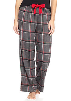 HUE Noelle Plaid Twill Pants
