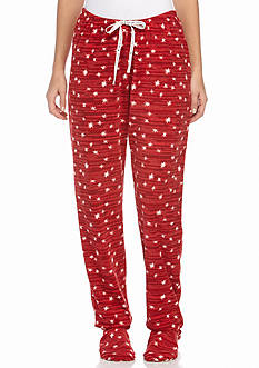 HUE Starry Mircofleece Footie Pajama Pants