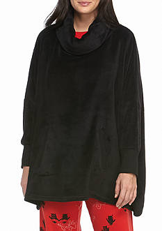 HUE Cozy Poncho with Pockets