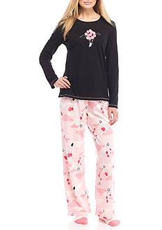 HUE® Penguins Can Fly Knit Pajama Set