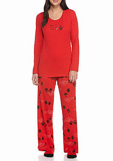 HUE® Penguin Pals Thermal Pajama Set with Free Socks