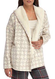 HUE Houndstooth Fleece Cozy Robe