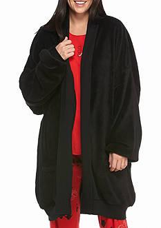 HUE Cozy Fleece Wrap Robe