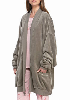 HUE Cozy Fleece Wrap Robe