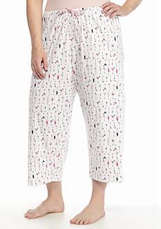 HUE Printed Capri Pants
