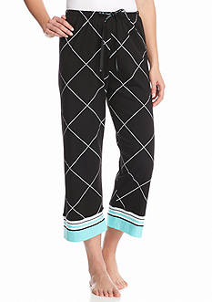 HUE® Windowpane Border Capris