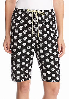 HUE® Dots and Flowers Sleep Bermuda Shorts