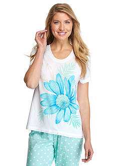 HUE® Bay Flower Short Sleeve Tee