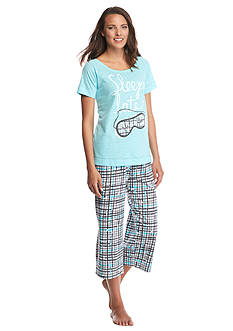 HUE® Sleep Late Capri Pajama Set