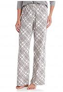 HUE® Etching Plaid Pants