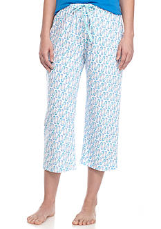 HUE Mermaid Geo Capris