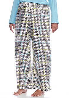 HUE Plus Size Sun-Loving Plaid Pajama Pants