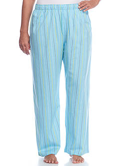 HUE Plus Size Tick Tock Stripe Pajama Pants