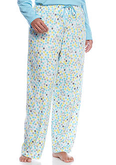 HUE Plus Size Dot Pallet Pajama Pants