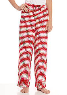 HUE Plus Size Click Heart Pajama Pant