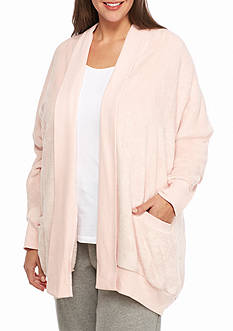 HUE® Plus Size Cozy Fleece Wrap