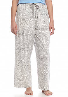 HUE Plus Size Rita Cheetah Print Pants