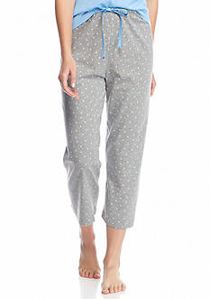 HUE® Plus Size Mini Scribble Capri Pajama Pants