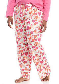 HUE Plus Size Simple Heart Pant