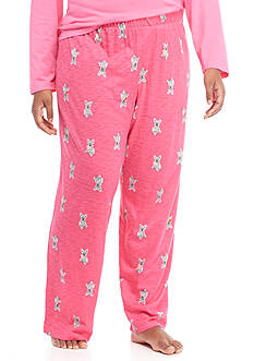 HUE Plus Size Doggie Love Pant