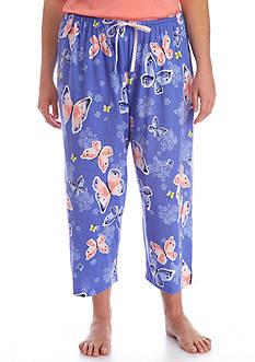 HUE Plus Size Butterfly Waltz Capri