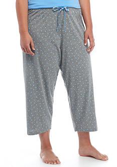 HUE Plus Size Mini Scribble Capri Pajama Pant