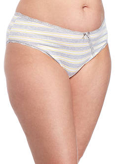 New Directions® Plus Size Cross Over Lace Hi-Cut Panties