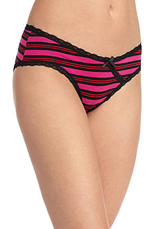 New Directions Intimates Cross Over Lace Cotton Hipster