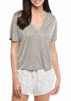 Honeydew Intimates Cloud Nine Slub Heather Tee - 14909