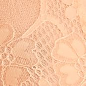 Women: Designer Sale: Pastel Orange Free People Galloon Lace Halter Bra - F763O915