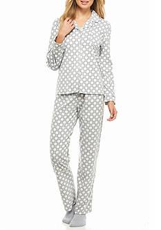 Kim Rogers 3-Piece Micro Pajama Set with Socks