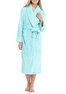 Kim Rogers Folded Dot Wrap Robe