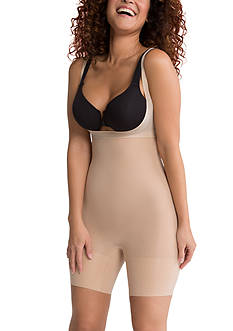 SPANX® Plus Size Shape My Day Open-Bust Mid-Thigh Bodysuit - PS5615