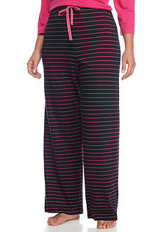 New Directions Plus Size Striped Knit Pants
