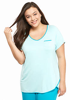 New Directions® Intimates Plus Size Short Sleeve Tulip Hem Tee