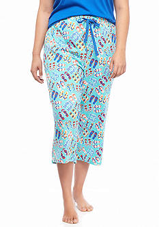 New Directions® Intimates Plus Size Knit Flip Flop Capris