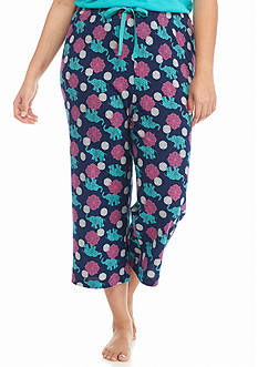 New Directions® Intimates Plus Size Elephant Knit Capris