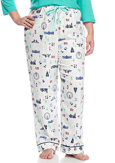 New Directions Plus Size London Flannel Pant