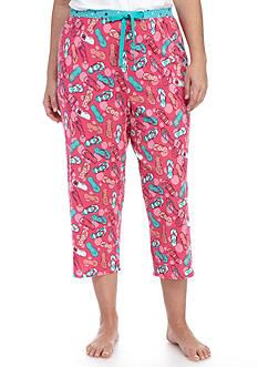 New Directions Plus Size Flip Flop Capri Pajama Pant