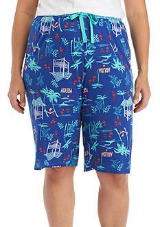 New Directions Plus Size Aruba Bermuda Shorts